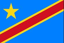 Flag of Congo Democratic Republic