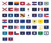 Picture of US State Flag Stickers Set