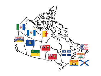 canada territories provinces flag stickers